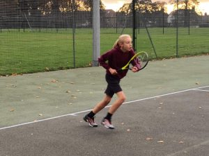 playing tennis in Eltham Park South