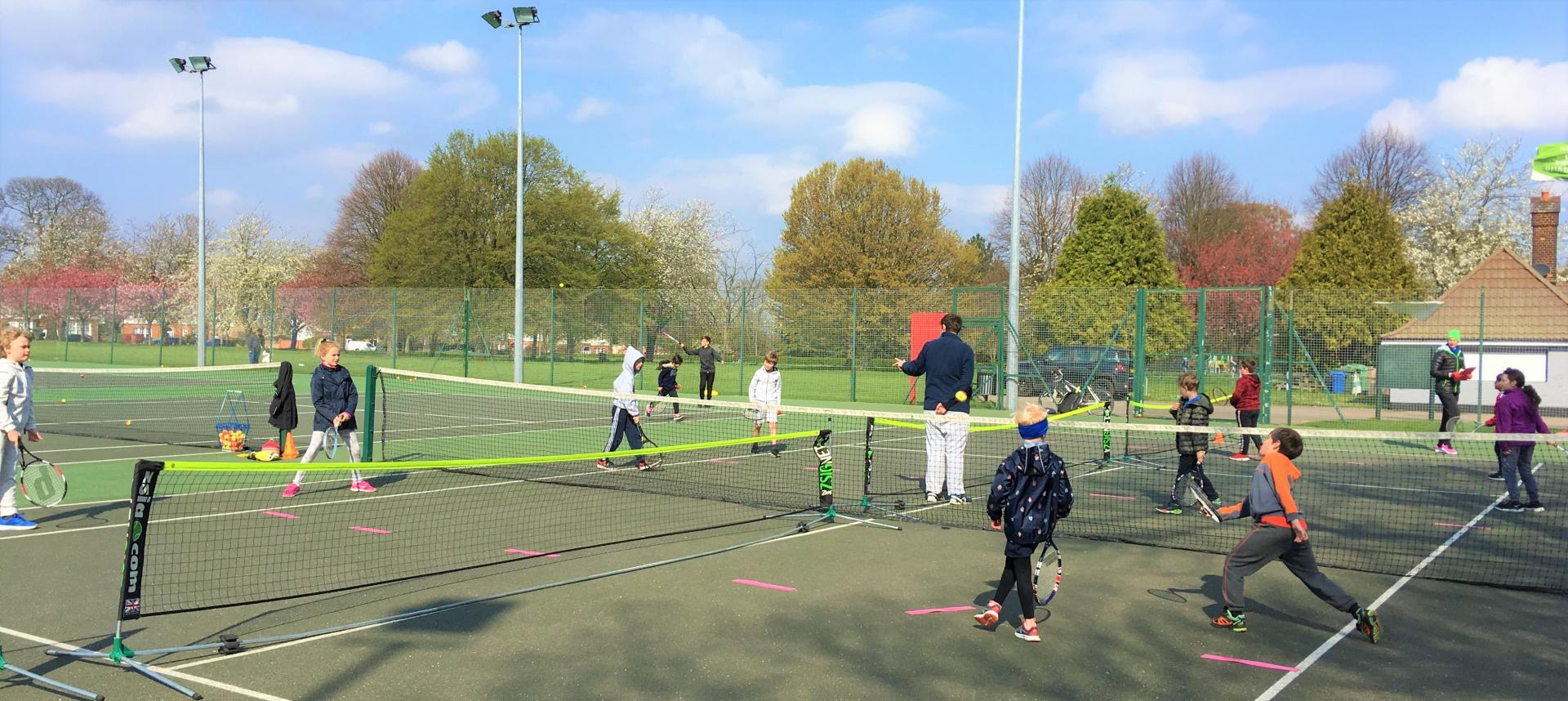 Easter tennis activity